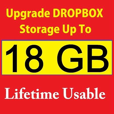 Upgrade dropbox space up to 18 GB for lifetime