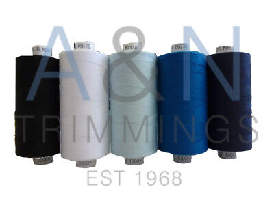 Coats Moon Tkt120 Pack Of 5 Reels Spun Polyester Sewing Thread Mix Colours