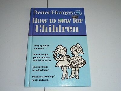 Vintage 1966 Better Homes & Gardens How To Sew For Children Book Sewing Manual