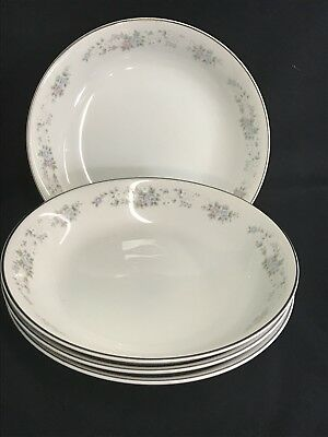 Carlton Fine China Corsage (4) Soup Bowls