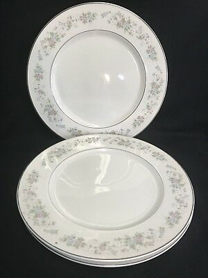 Carlton Fine China Corsage (3) Dinner Plates