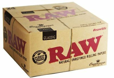 Raw Classic Connoisseur King Size Slim With Tips 24 pk 🔥🔥Free Shipping🔥🔥