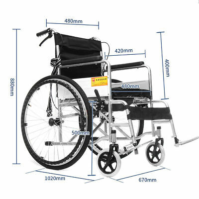 New Portable Folding Wheelchair Self Propelled Lightweight Patient Care Supply