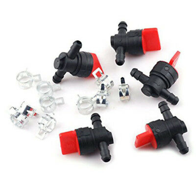 "10x 1/4"" InLine Straight Fuel Gas Cut-Off Shut Off Valve Petcock Motorcycle"