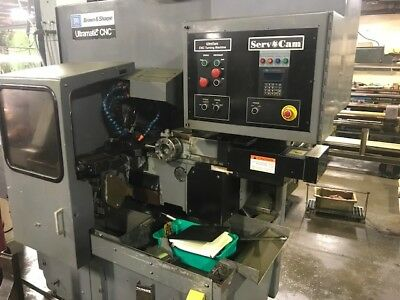 B&S Servo Cam CNC Ultramatic Converted to Servo Cam Screw Machine