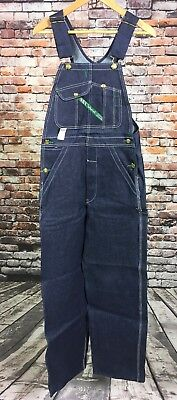 VTG NOS NWT Key Imperial Overalls 29 x 32 Blue Made In USA Bibs Cotton Denim