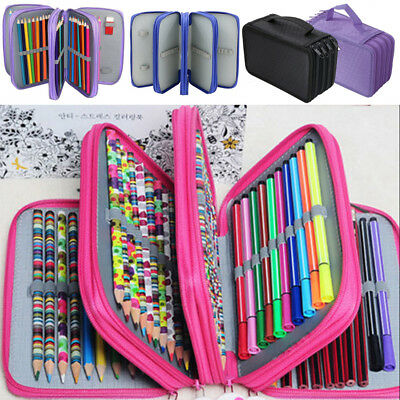1X Large Capacity Pencil Pen Case Makeup Storage Bag Organizer Travel School AU