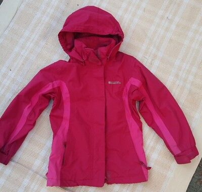 Girls Pink Mountain Warehouse Waterproof Jacket Age 7-8 years