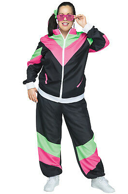 Brand New 80s Female Track Suit Plus Size Costume