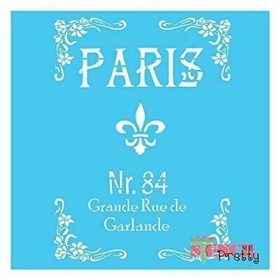 Stencil - French Grand Rue Shabby Chic Vintage Furniture DIY Chic Sign Template