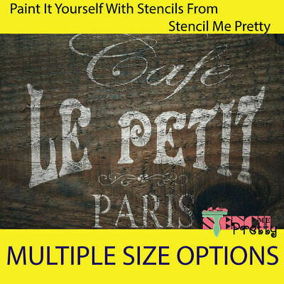 ❤ French Cafe Le Petit Paris Stencil DIY Shabby Chic Furniture Wall art template