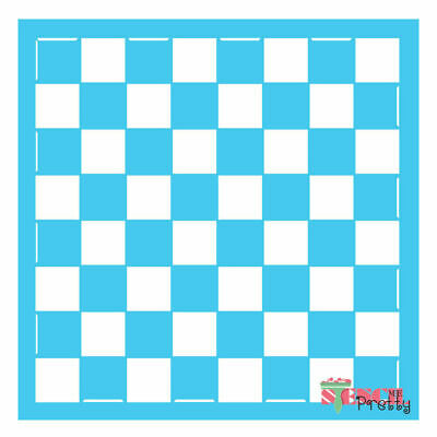 Chess / Checkers Board Stencil DIY reusable arts and crafts supplies - |