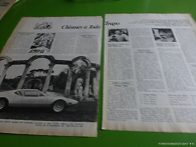 De Tomaso Pantera Small Review Argentina Article Spanish 1972