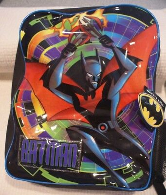 """Rare Batman Beyond 16"""" Backpack with Water Bottle. Never used. Movie Promotional"""