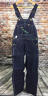 VTG NOS NWT Key Imperial Overalls 31 x 32 Blue Made In USA Bibs Cotton Denim