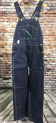 VTG NOS NWT Key Imperial Overalls 32 x 34 Blue Made In USA Bibs Cotton Denim