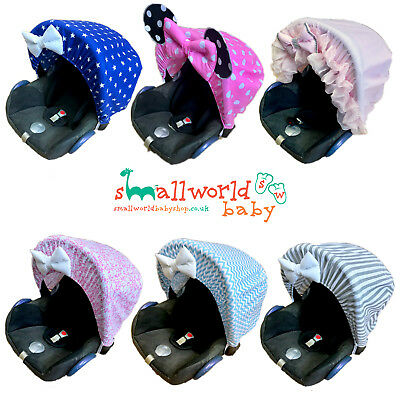 Baby Car Seat Sun Canopy Shade Hood Parasol Universal Stage Group 0+ Boys Girls