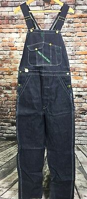 VTG NOS NWT Key Imperial Overalls 32 x 36 Blue Made In USA Bibs Cotton Denim