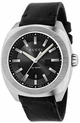 977d7629827 Gucci Men s Black Dial Stainless Steel Case Quartz Date Display Watch  YA142206