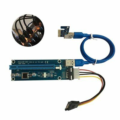 20Set USB 3.0 PCI-E Express 1x To 16x Extender Riser Card Adapter Power Cable KF