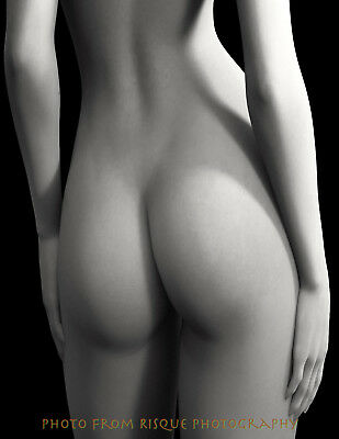 "Nude Woman From Behind 8.5x11"" Photo Print Naked Female Modern Photography Art"