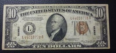 USA BANKNOTE 10 Dollars, VF 1934 (Hawaii)