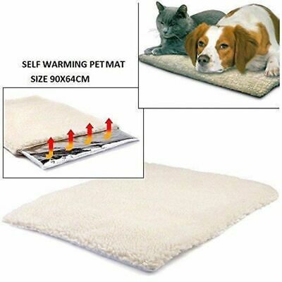 Self Heating Dog Cat Blanket Pet Bed Thermal Washable No Electric Blanket UY