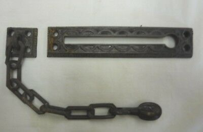 Antique Solid Brass Decorative Sliding Chain Door Lock