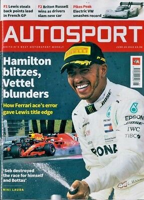 AUTOSPORT MAGAZINE ISSUE 28th JUNE 2018 ~ NEW ~ DISCOUNTS ON MULTIPLE ISSUES ~
