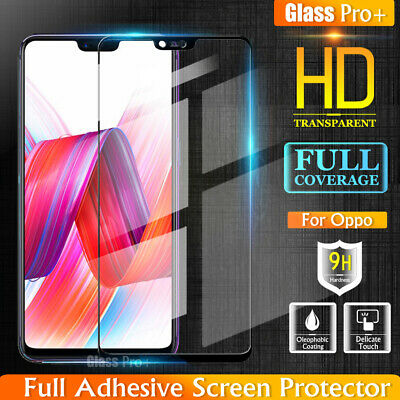 5D Full Coverage Tempered Glass Screen Protector Film Guard For Oppo R15 R15 Pro