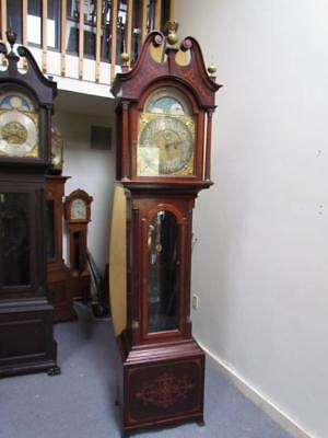 *STUNNING* ANTIQUE FORMAL AMERICAN late 1800s INLAID GRANDFATHER CLOCK
