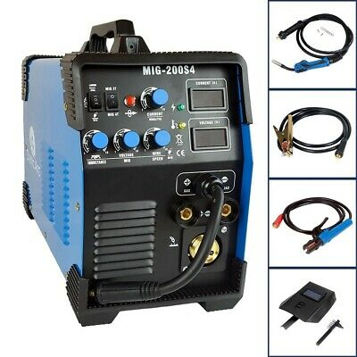 Mig 200A Igbt Inverter Dc Welder 3-In-1 Mma Tig Gas Gasless Arc Welding Machine