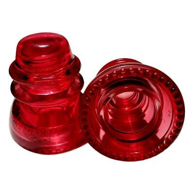 A Nice Stained / Colored Candy Apple Red Vintage Hemingray 42 Glass Telephone In