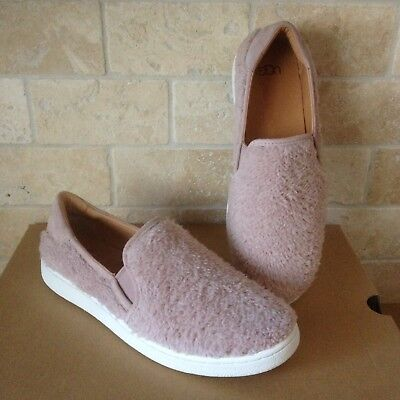1f06f56af23 Ugg Ricci Dusk Pink Faux Fuzzy Fur Slip-On Sneaker Shoes Size Us 8.5 Womens