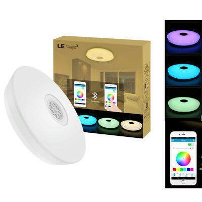 24W Dimmable LED Music Ceiling Lights Bluetooth Speaker RGBW Phone APP Control