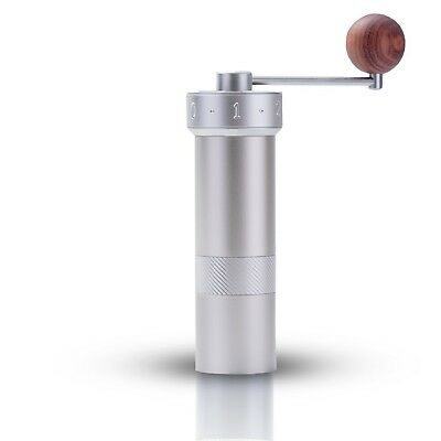 Coffee Grinder Manual Bur | Slim Portable Stainless Steel | With External Adj...