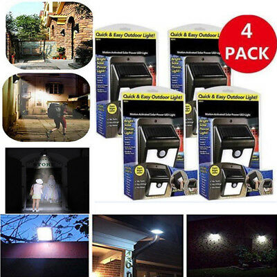 4PCS Ever Brite Led Outdoor Light AS ON TV Everbrite Solar Powered Lamp Wireless