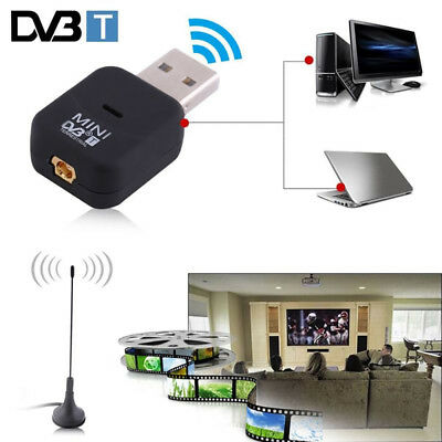 USB 2.0 DVB-T Digital TV Receiver HDTV Tuner Dongle Stick Antenna IR Remote