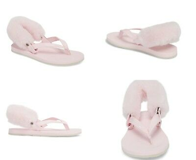 df9cf32cb Ugg Laalaa Sheepskin Flip Flops Seashell Pink Color Size 5 Us Womens