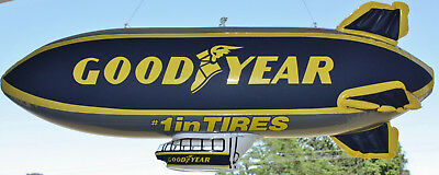 Original Goodyear Dealers Tire Advertising Inflatable Blimp & Blimp Post-its NOS