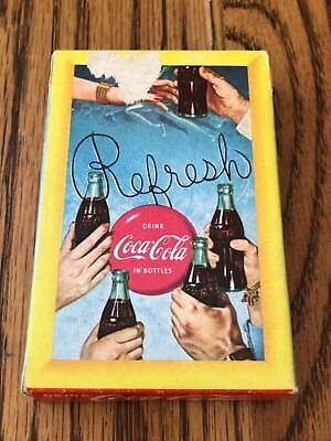Vintage 1958 COCA COLA REFRESH Playing Card Deck Coke SEALED w/ Tax Stamp