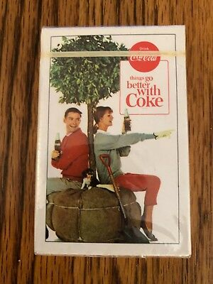 Vintage 1963 Drink Coca Cola Things Go Better With Coke Sealed Playing Cards