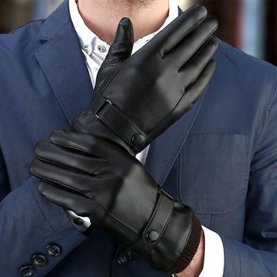 AU Mens Womens Outdoor Leather Gloves Thermal Thinsulate Lined Driving Gloves