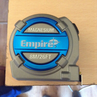empire magnesium 8m/26ft tape measure