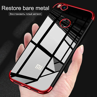 Transparent Silicone Case For Xiaomi 8 6 Redmi Note 5 Pro 4X 5 Shockproof Cover
