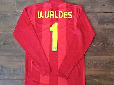 2007 2008 Barcelona Valdes Player Issue Goalkeepers Football Shirt Camiseta