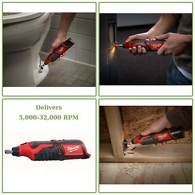 CORDLESS ROTARY TOOL Milwaukee M12 12V Lithium-Ion Variable Speed Tool Only