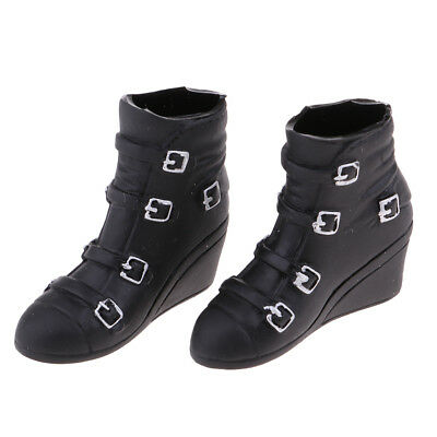1/6 Scale Female Fashion Wedge Heel Knee Boots for 12'' Phicen Kumik Doll