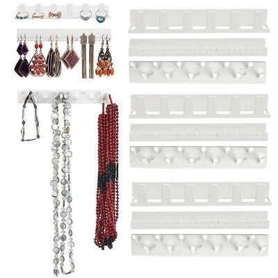 9Pcs Jewelry Organizer Hanging Holder Display Stand Rack Wall Earring Necklace