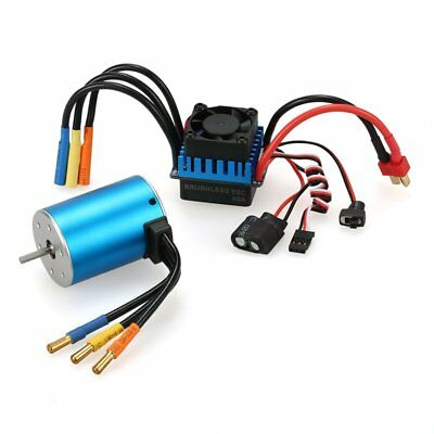 3650 3900KV Sensorless Brushless Motor+60A ESC+Program Card for 1/10 RC Truck